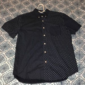 American Eagle Navy Blue dotted T